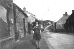 Nancy Gatenby outside the post office c.1928.