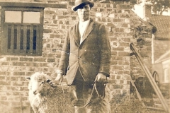 Sid Pickering at Manor Farm with sheep