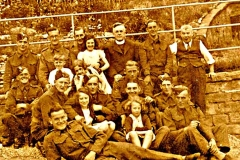 Soldiers and evacuees billeted during WWII