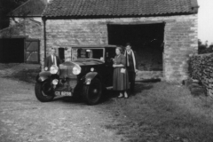 The Perry's at White House barn with Adamson's Rolls Royce c.1956
